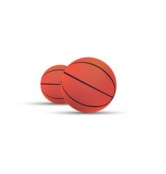 Basketball ball isolated sport background icon vector