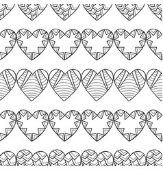 black and white seamless pattern with decorative vector image