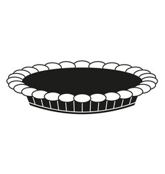 Black and white thanksgiving pie silhouette vector