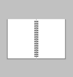 Blank open notebook vector