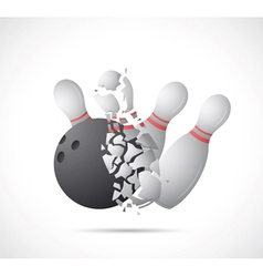 Bowling game cartoon vector image