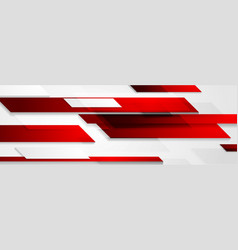 Bright technology geometric red shapes abstract vector