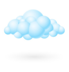 bubble cloud icon on white background for design vector image