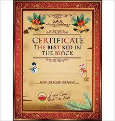 Certificate best kid in block vector