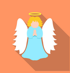 Christmas angel icon in flat style isolated on vector