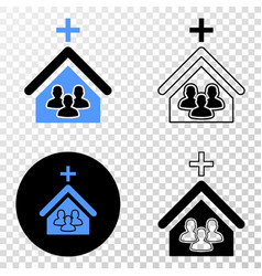Church people eps icon with contour version vector
