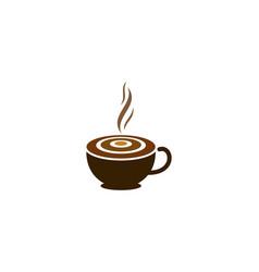 coffee target logo icon design vector image