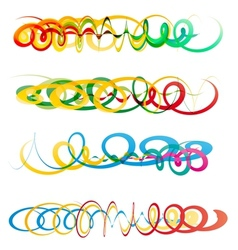 Colorful abstract curly ribbon headers vector