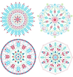 Colorful mandalas set vector