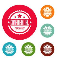 Confidental logo simple style vector