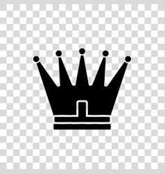 crown icon in trendy flat style isolated on white vector image
