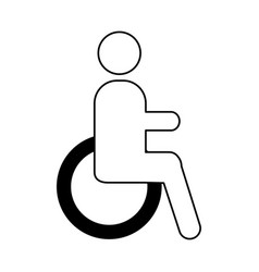 Disable person isolated icon vector