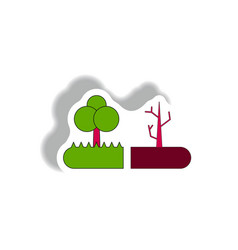 Drought and trees effects on plants vector