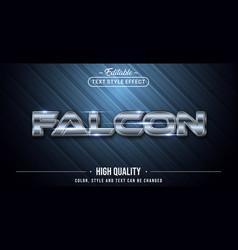 Editable text style effect - falcon silver text vector