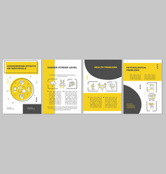Effects of consumerism yellow brochure template vector
