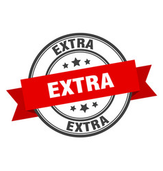 Extra label extra red band sign extra vector