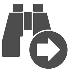 Find next binoculars icon vector