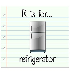 Flashcard letter R is for refrigerator vector