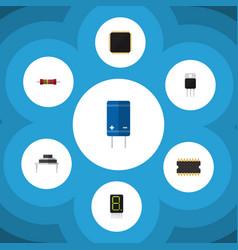 Flat icon electronics set of destination vector
