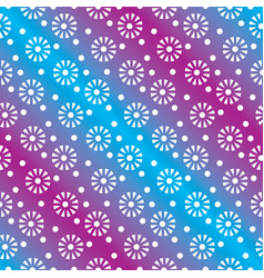 floral or snowflakes geometric seamless pattern vector image
