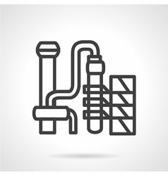 Gasoline factory simple line icon vector image