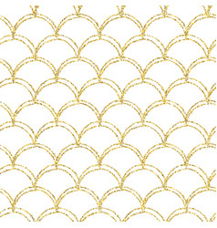 Gold glitter mermaid tail seamless pattern vector