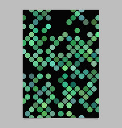 green circle pattern brochure background vector image