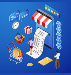 Internet shopping online payments isometric vector