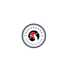 Logo design rooster vector