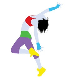 Modern Dance Activity Silhouette vector image