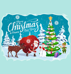 new year and christmas greetings winter holidays vector image