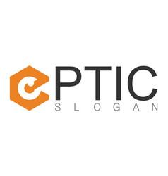 optic logo vector image