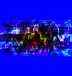 Pattern of shimmering triangles in blue colors vector