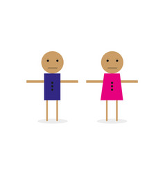 people icon man and woman icon vector image