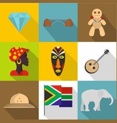 Rsa icons set cartoon style vector