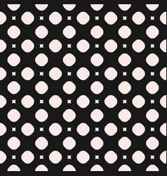 seamless geometric texture with circles squares vector image