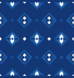 seamless pattern with embroidery ikat ethnic vector image