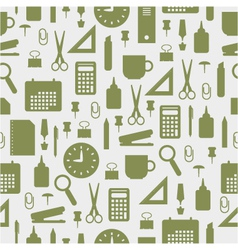 seamless pattern with office stationery icons vector image