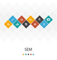 Sem trendy ui template infographics conceptsearch vector