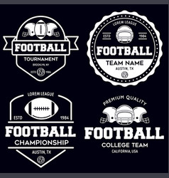 Set of american football related badges logos vector