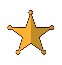sherif star medal icon vector image