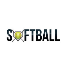 softball concept word art vector image