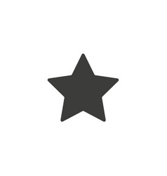 star icon simple flat symbol perfect vector image