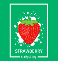 strawberry healthy banner vector image