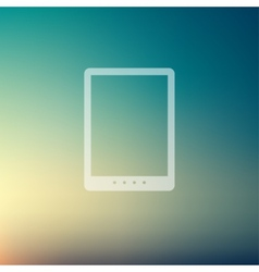 Tablet in flat style icon vector image