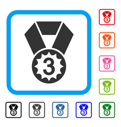 Third place framed icon vector