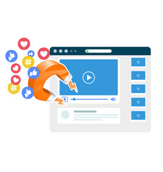 Viral video content promotion - magnet smm vector