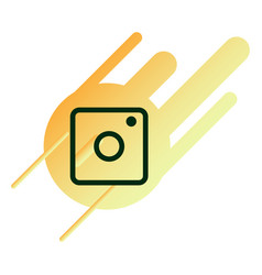 Web icon of modern lineart camera digital vector