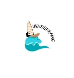 windsurfing logo vector image