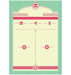 1950s Diner Inspired Background and Frame vector image
